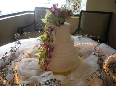 Cake Decorated with assorted Orchids
