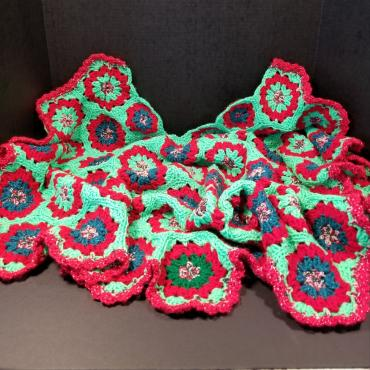 Large Hand Made Crocheted Tree Skirt