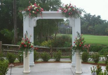 White Arch and Pedestals