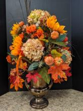 Bronze Urn Fall Arrangement