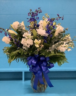 Beyond Blue Mixed Vase Arrangement