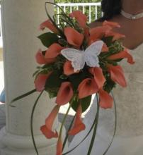 Peach Calla Lily Bouquet