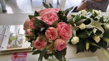Pink Garden Rose Bridal Bouquet