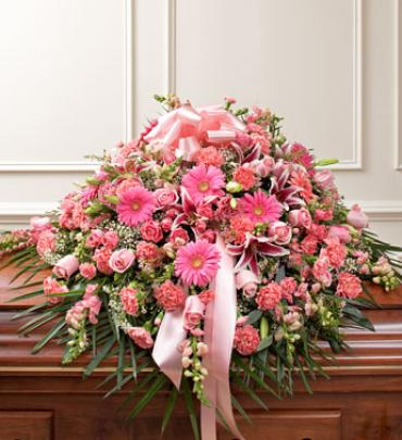 Pink Mixed Casket Spray