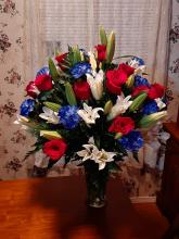 Patriotic Celebration Vase Arrangement