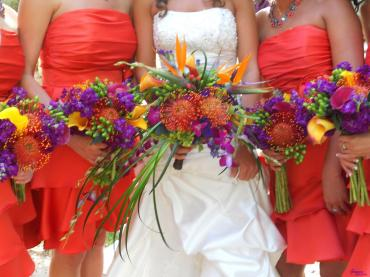 Tropical Bridal Party Bouquet\'s