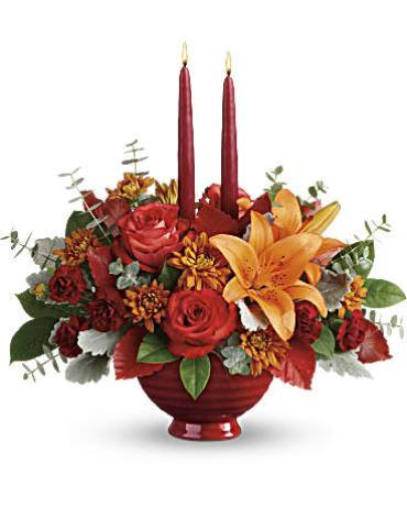Teleflora\'s Autumn In Bloom Centerpiece