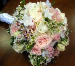 Rose, Stephanotis and Wax Flower Bouquet
