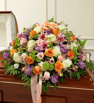 Multicolor Pastel Mixed Half Casket Spray