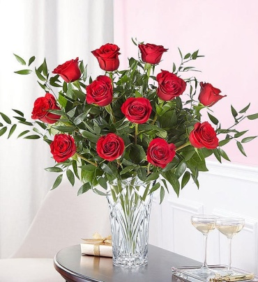 Marquis Crystal by Waterford Premium Long Stem Roses