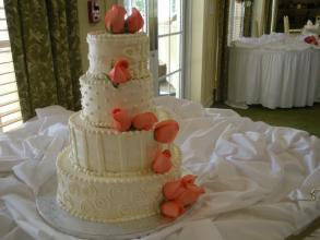 Peach Rose Decorated Cake